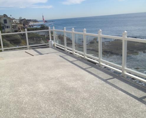 sea front railing
