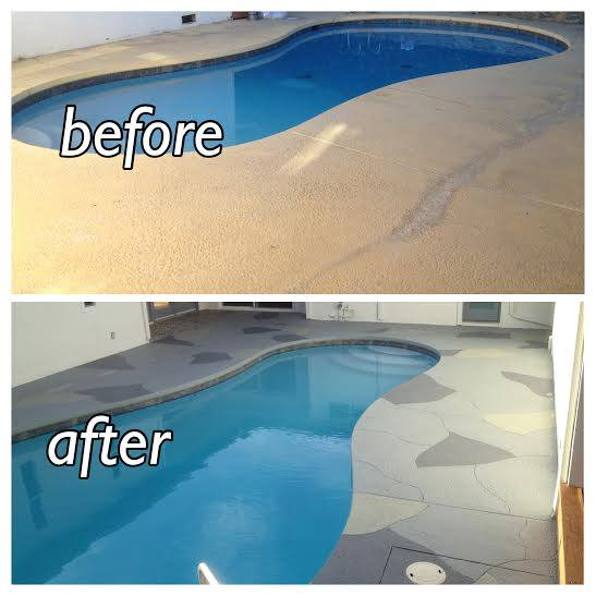 Your Pool Deck Before After